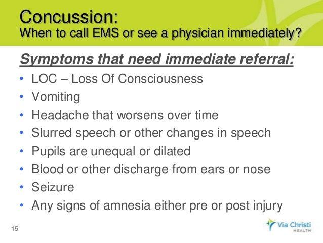 Concussion speech