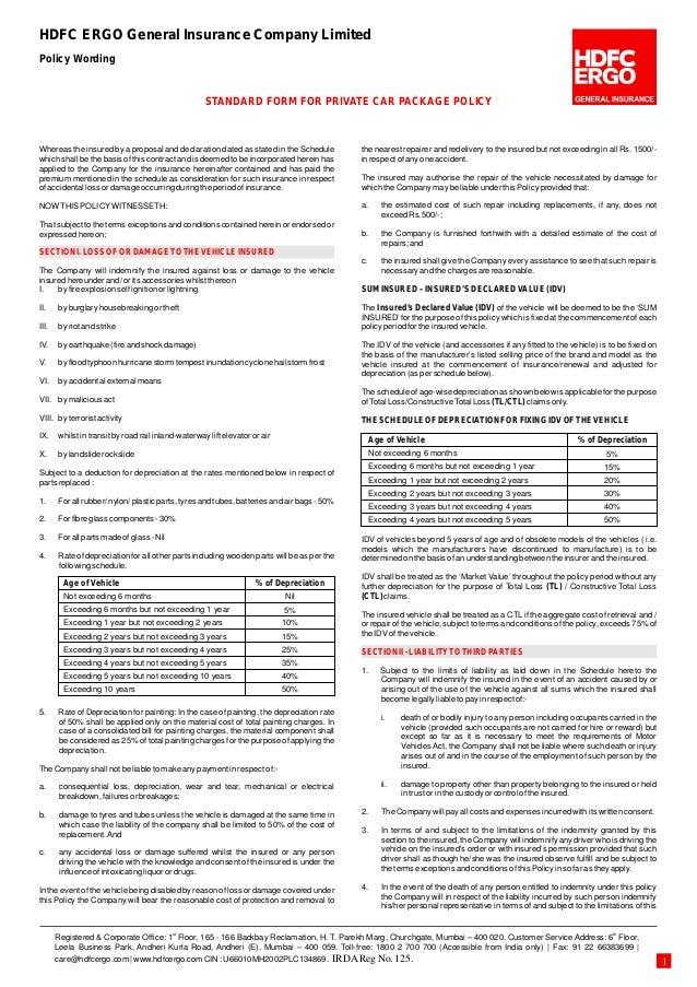 Hdfc Car Insurance