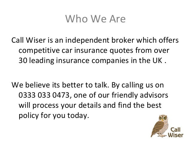 Car Insurance Quotes Call Wiser