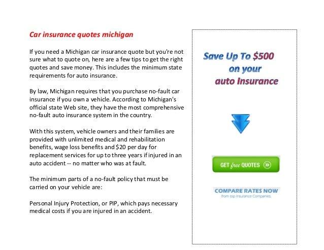 Car Insurance Quotes Michigan Simple Car Insurance Quotes Michigan