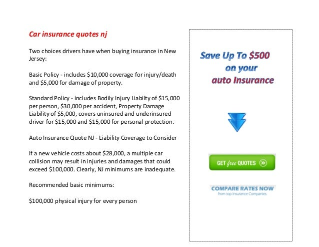 Car Insurance Quotes Nj Stunning Car Insurance Quotes Nj