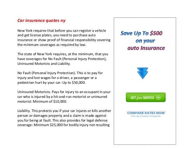 Car Insurance Quotes Ny Extraordinary Car Insurance Quotes Ny