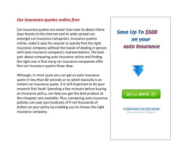 Online Car Insurance Quotes >> Car Insurance Quotes Online Free