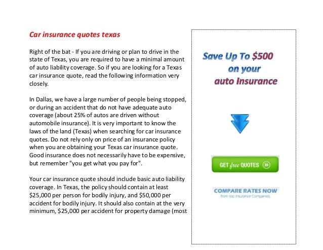 Auto Insurance Quotes Texas Delectable Car Insurance Quotes Texas