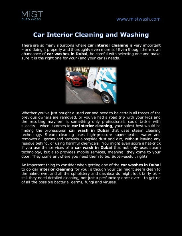 Car Interior Cleaning And Washing