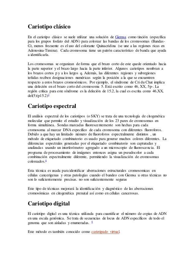 Cariotipo Clásico Boilogia