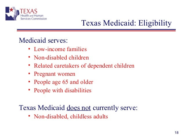 medicaid benefits for adults in texas