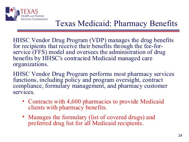 Texas vendor drug program