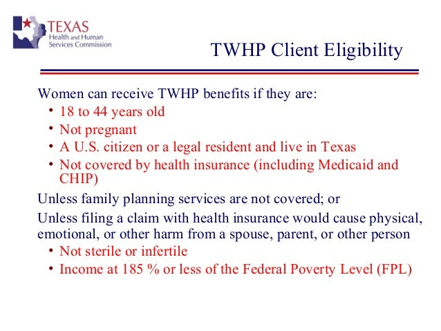 what are the income requirements for pregnancy medicaid in texas