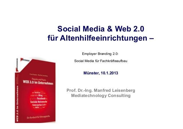 Fachhochschule des Mittelstands (FHM)                               Social Media & Web 2.0                            für ...