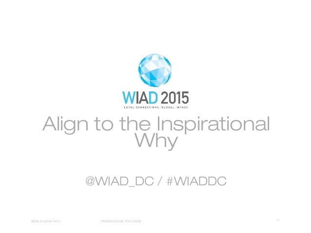 Align to the Inspirational Why @WIAD_DC / #WIADDC 01WORLD IA DAY 2015 PRESENTATION TITLE HERE