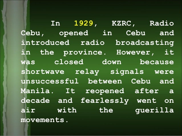 history of radio in the philippines Explore the many ways you can live worry-free take your pick from a variety of call, text, surf, and app combos learn more.