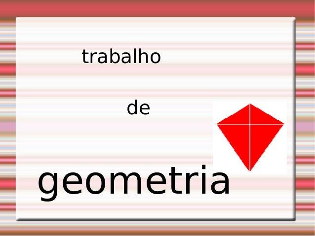 trabalho de geometria