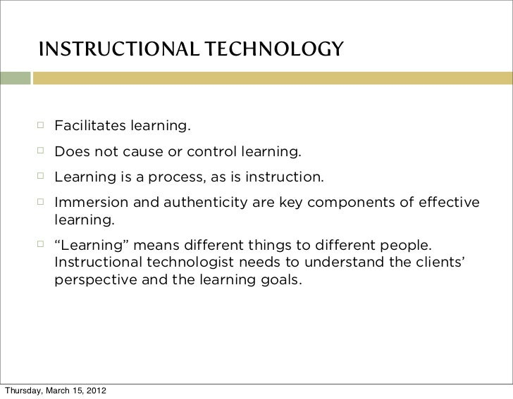 Definition Of Instructional Technology