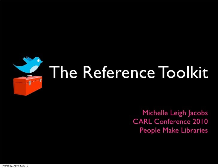 The Reference Toolkit                                         Michelle Leigh Jacobs                                      C...