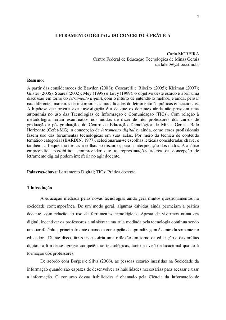 1               LETRAMENTO DIGITAL: DO CONCEITO À PRÁTICA                                                                 ...