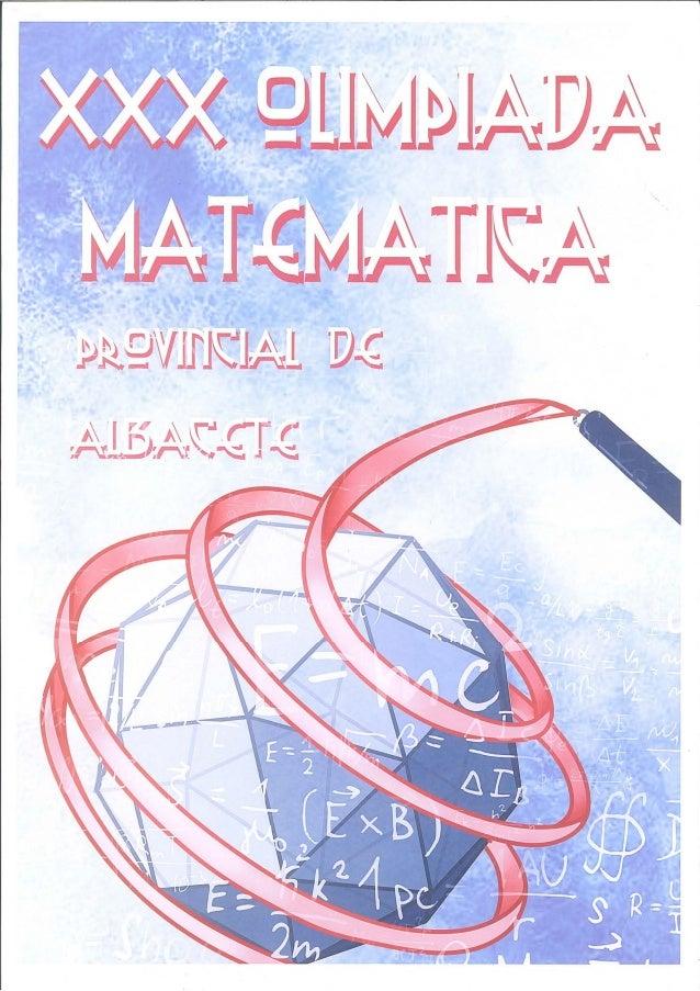 Carteles XXX Olimpiada Matemática Provincial de Albacete