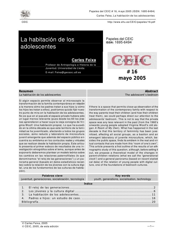 Papeles del CEIC # 16, mayo 2005 (ISSN: 1695-6494)                                                                     Car...