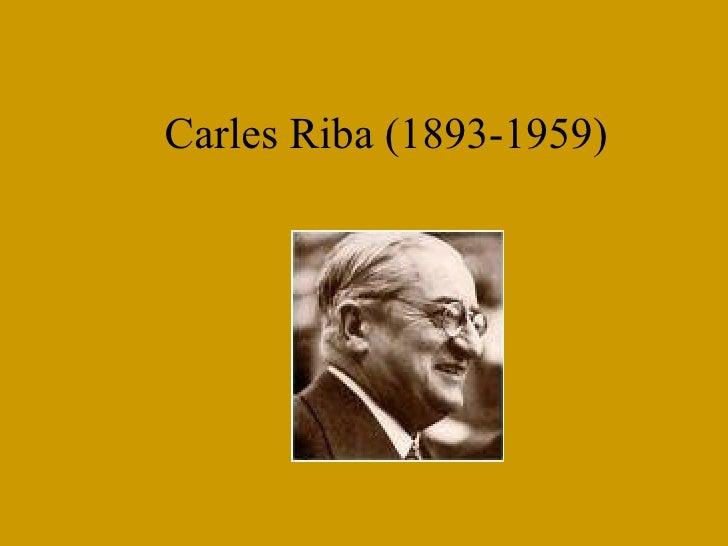 Carles Riba (1893-1959)