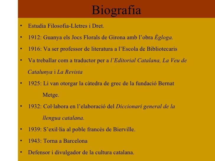 Carles Riba (1893 1959) Slide 2