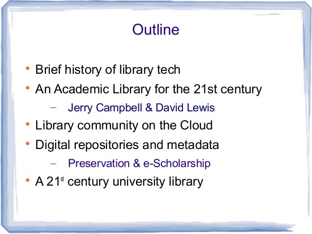 A brief history in the field of library automation