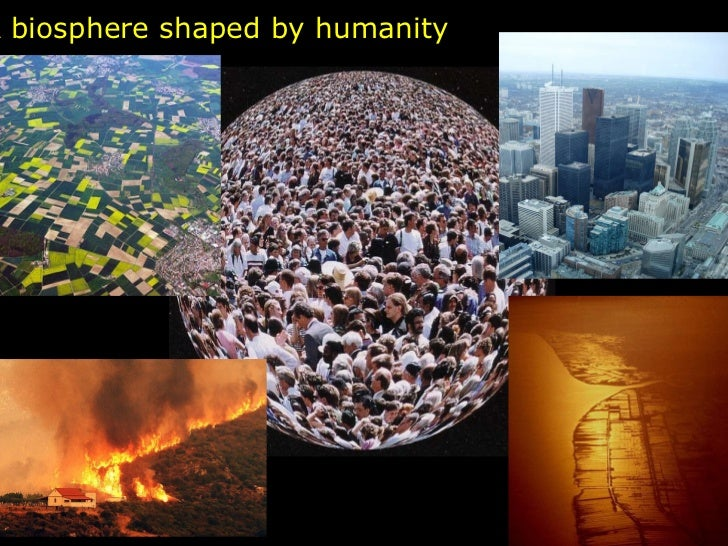 A biosphere shaped by humanity