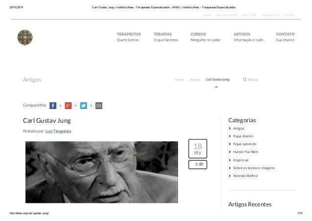 20/10/2014 Carl Gustav Jung « Instituto Ahau - Terapeutas Especializados ::AHAU:: Instituto Ahau – Terapeutas Especializad...