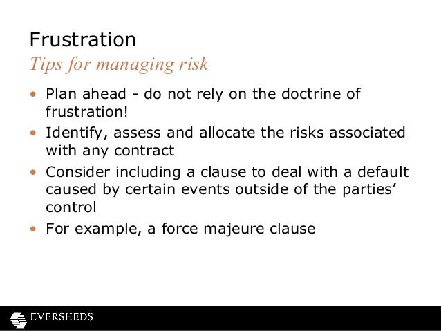 Frustration of contracts and force majeure clauses 15 pronofoot35fo Image collections