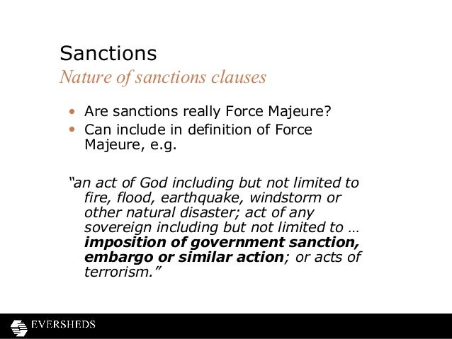 Frustration of contracts and force majeure clauses contracts 41 are sanctions really force majeure pronofoot35fo Image collections