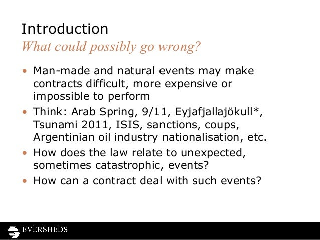 Frustration of contracts and force majeure clauses pronofoot35fo Image collections