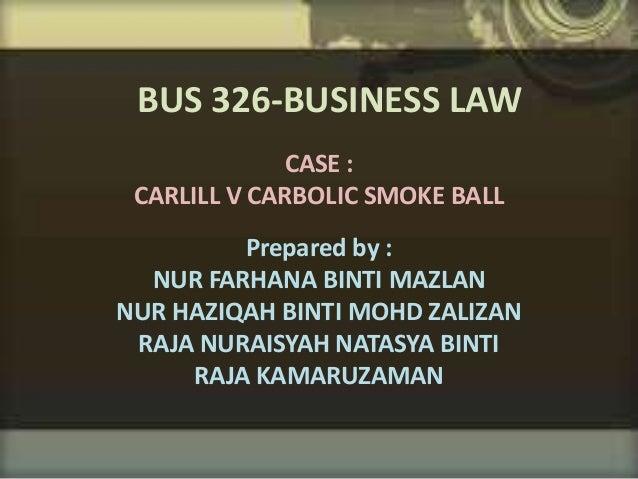 carlill v carbolic smoke ball co ltd