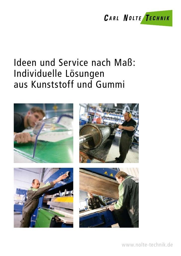 Carl Nolte Technik - Imagebroschüre