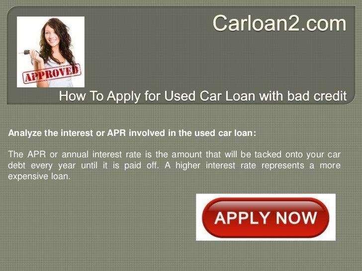 Used car financing calculator bad credit 16