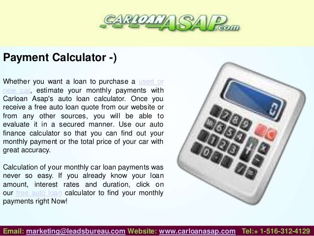 Car Loan Asap – Online Car Loan Providing Company