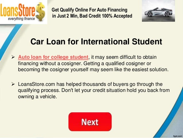 Car Loan For Students With No Credit