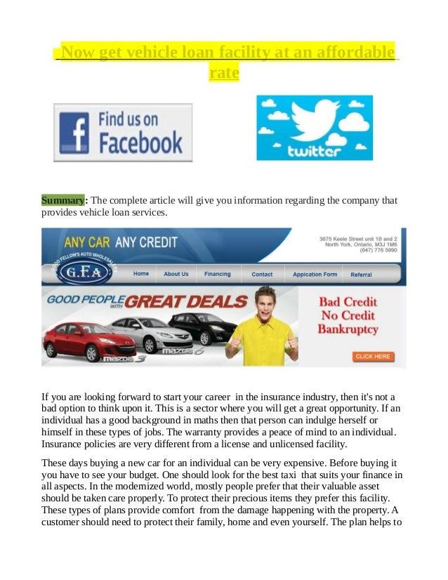 Bad Credit Auto Car Loans In Canada