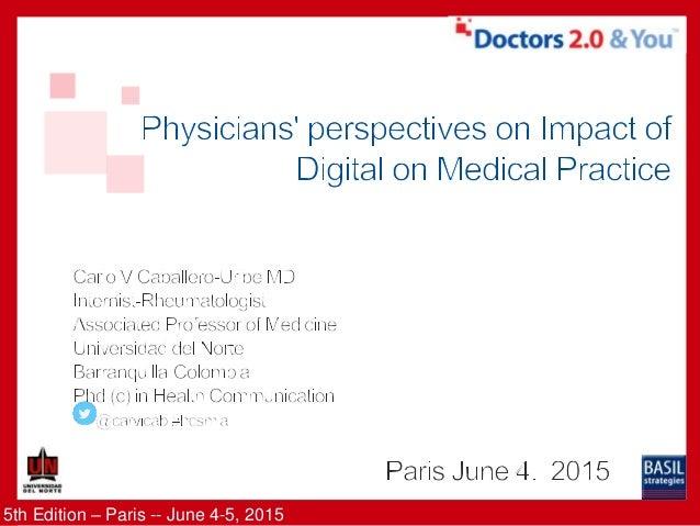 5th Edition – Paris -- June 4-5, 2015