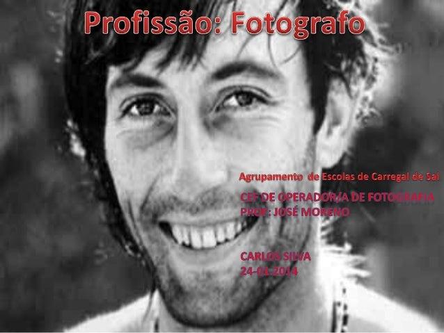 Fotógrafo é a designação profissional para alguém que elabora fotografias estáticas ou dinâmicas. O termo abrange atividad...