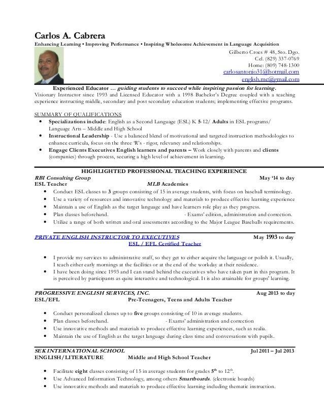 Education Sample Resume Sample High School Teacher Resume Resume High School  English Teacher Resume Resumes For