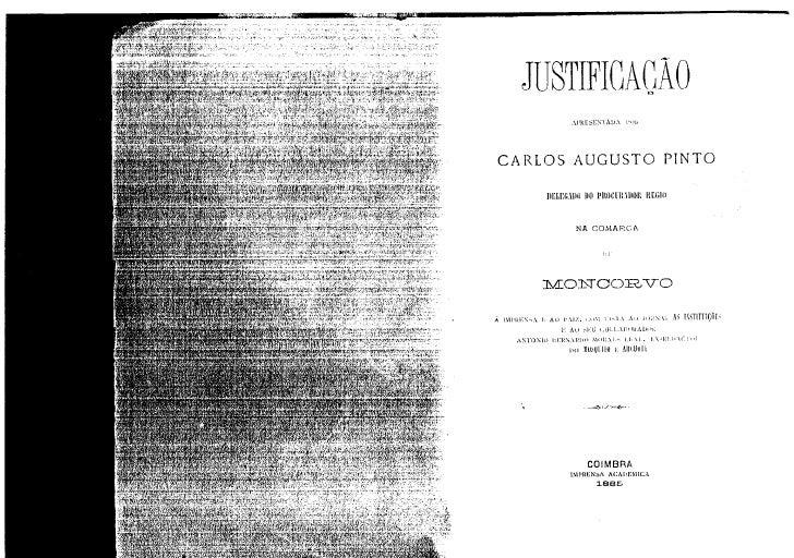 Justificação de Carlos Augusto Pinto