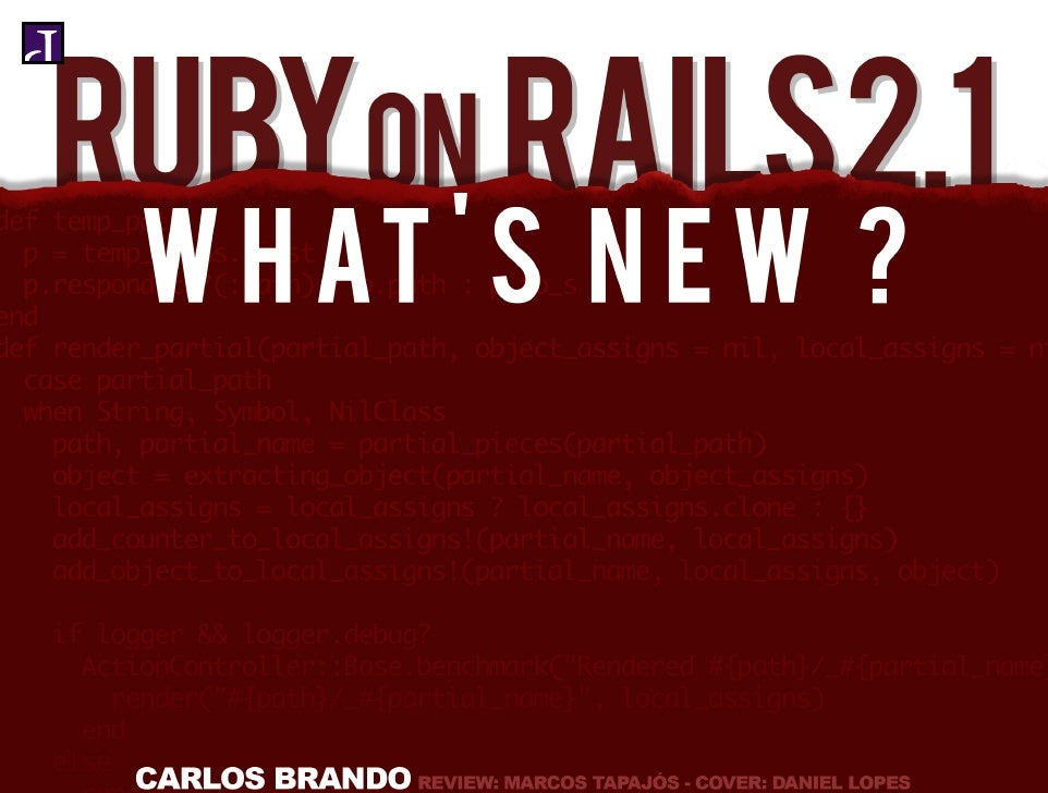 Ruby on Rails 2.1    WHAT'S NEW    First Edition