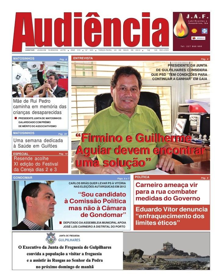 DIRETOR:   JOAQUIM   FERREIRA    LEITE     ANO   VIII   Nº   305   TERÇA-FEIRA,   29    DE   MAIO    DE   2012   1    IVA ...