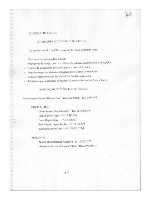 Plano Gestão EE Prof Carlos Castilho