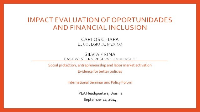 Social protection, entrepreneurship and labor market activation  Evidence for better policies  International Seminar and P...
