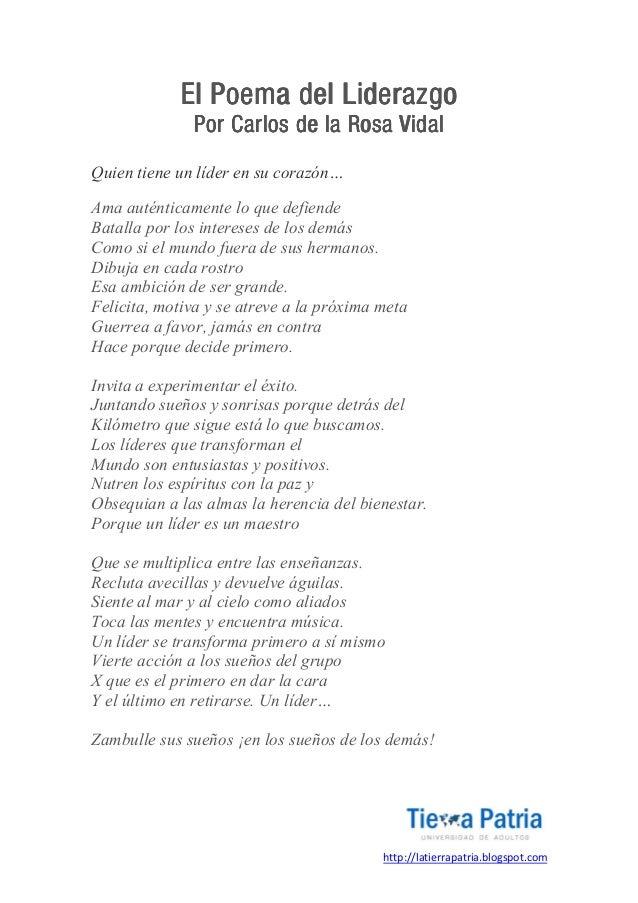 Poema Motivacional De Liderazgo