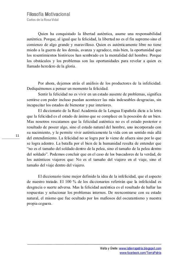 FilosofíaFilosofíaFilosofíaFilosofía MotivacionalMotivacionalMotivacionalMotivacionalCarlos de la Rosa VidalVisita y Únete...