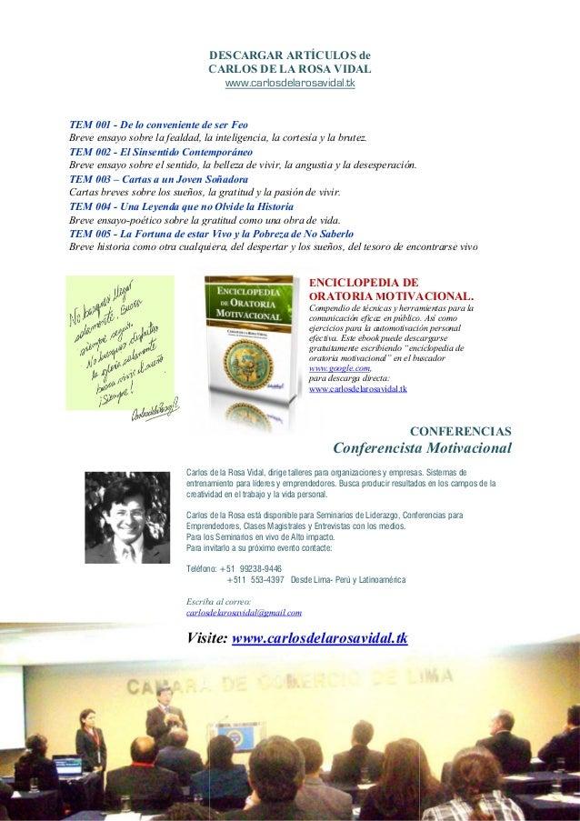 DESCARGAR ARTÍCULOSCARLOS DE LA ROSA VIDALTEM 001 - De lo conveniente de ser FeoBreve ensayo sobre la fealdad, la intelige...
