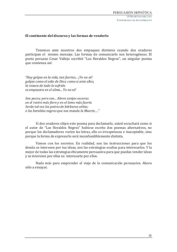 Oratoria Hipnótica Libro En Pdf