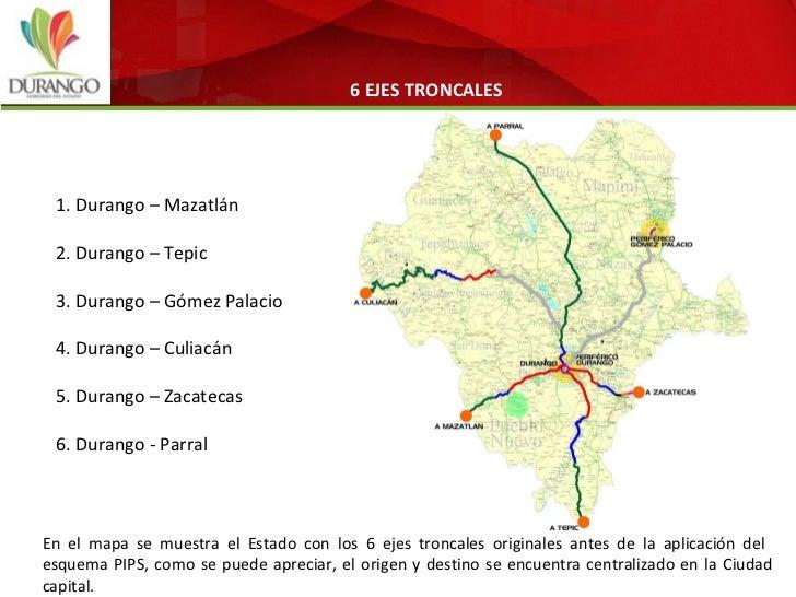 Infraestructura carretera en Durango