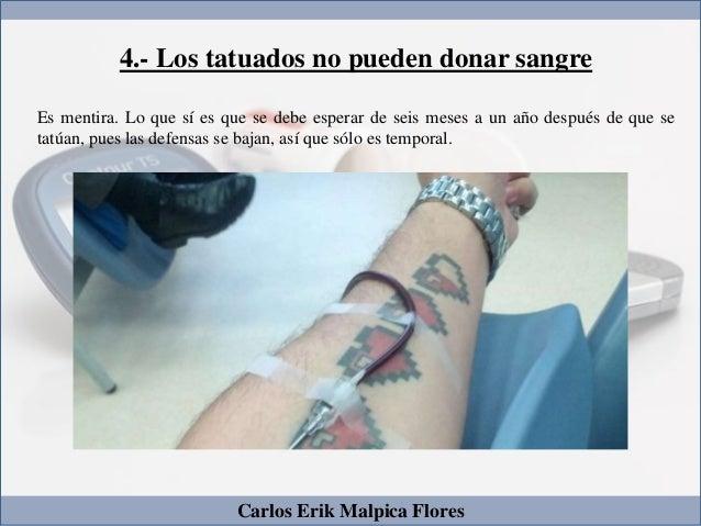 Tatuaje Carlos carlos erik malpica flores - 5 mitos sobre los tatuajes